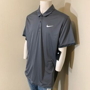 Nike Men's Dark Gray Heather Dry Fit XL Polo shirt